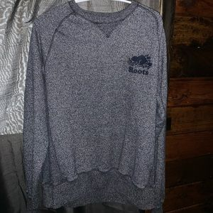 Blue salt and pepper roots long sleeve